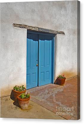 Tucson Arizona Blue Door Canvas Print by Gregory Dyer