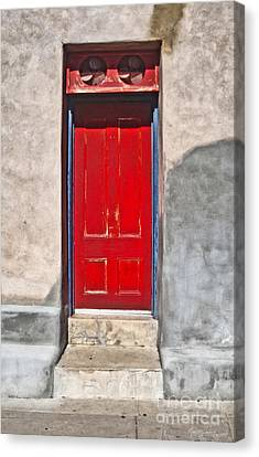 Tucson Arizona Red Door Canvas Print by Gregory Dyer