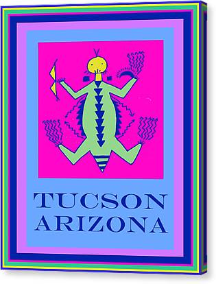 Tucson Arizona Shaman Canvas Print by Vagabond Folk Art - Virginia Vivier