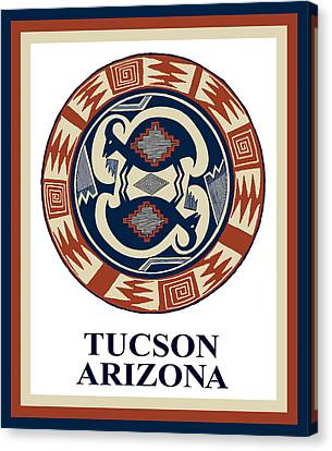 Tucson Arizona  Canvas Print by Vagabond Folk Art - Virginia Vivier