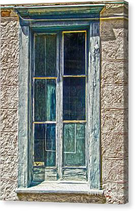 Tucson Arizona Window Canvas Print by Gregory Dyer