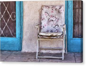 Arizona Canvas Print - Tucson Front Porch Painterly Effect by Carol Leigh