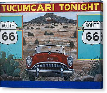 Tucumcari Tonight Mural On Route 66 Canvas Print by Carol Leigh