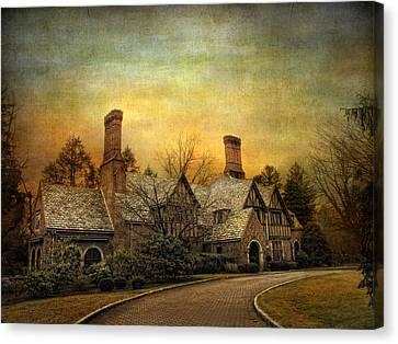 Tudor In Winter Canvas Print