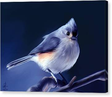 Tufty The Titmouse Canvas Print by Pennie  McCracken