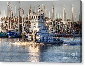 Tug Boat Apollo Port Arthur Texas Canvas Print by D Wallace