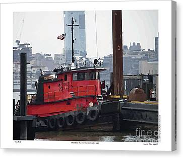 Canvas Print featuring the digital art Tug Boat B by Kenneth De Tore