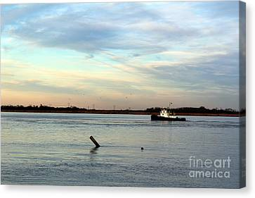 Canvas Print featuring the photograph Tug Boat by David Jackson