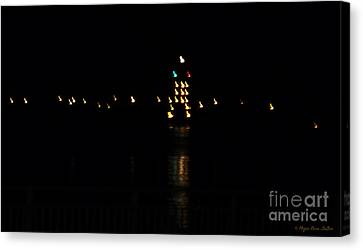 Canvas Print featuring the photograph Tug Boat Light Painting by Megan Dirsa-DuBois