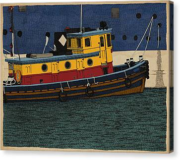 Canvas Print featuring the drawing Tug by Meg Shearer
