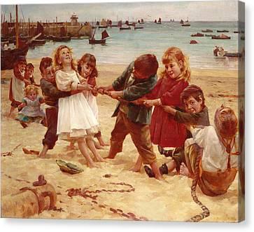 Tug Of War Canvas Print by Edward R King