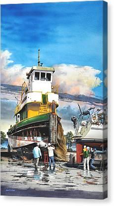 Tugboat Brown Gulf Canvas Print