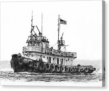 Tugboat Iver Foss Canvas Print by James Williamson