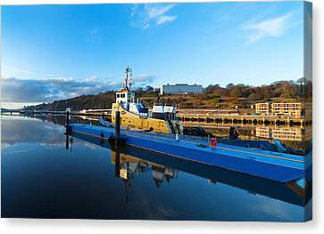 Tugboat Moored At The River Suir Canvas Print by Panoramic Images