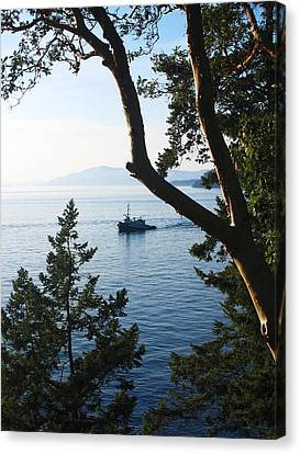 Tugboat Passes Canvas Print