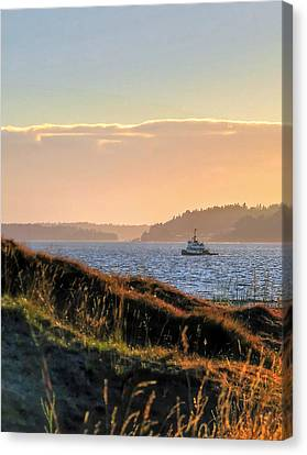 Tugboat Twilight - Chambers Bay Golf Course Canvas Print