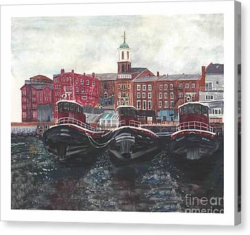 Tugboats Of Portsmouth Canvas Print