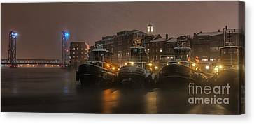Tugs In The Snow Canvas Print