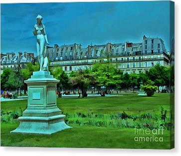 Tuileries Gardens Canvas Print by Allen Beatty