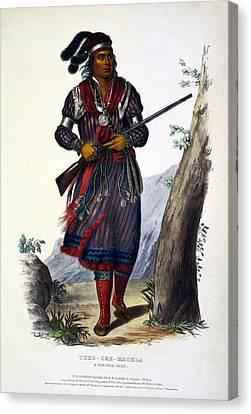 Tuko-see-mathla, Seminole Chief Canvas Print by Everett