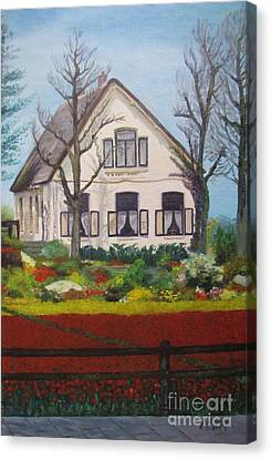 Tulip Cottage Canvas Print by Martin Howard