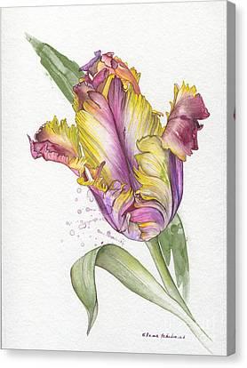 Canvas Print featuring the painting Tulip -  Elena Yakubovich by Elena Yakubovich