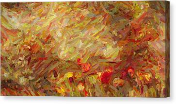 Tulip Garden Abstract Canvas Print by Kenny Francis