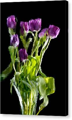 Tulip Impressions Vi Canvas Print by Penny Lisowski