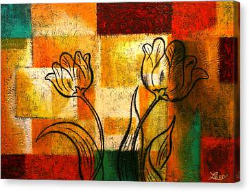 Tulip Canvas Print by Leon Zernitsky