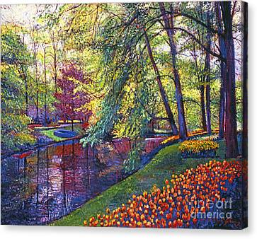 Tulip Park Canvas Print by David Lloyd Glover