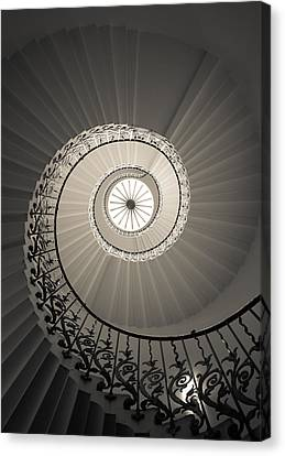 Tulip Stairs From Below Canvas Print