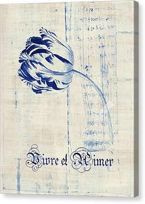Textured Florals Canvas Print - Tulip - Vivre Et Aimer S04bt04t by Variance Collections