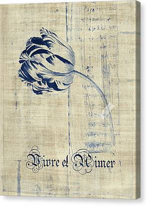 Textured Florals Canvas Print - Tulip - Vivre Et Aimer S04t03t by Variance Collections