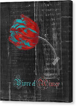 Textured Florals Canvas Print - Tulip - Vivre Et Aimer S11ct04t by Variance Collections