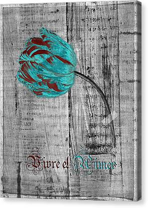 Tulip - Vivre Et Aimer S12ab4t Canvas Print by Variance Collections