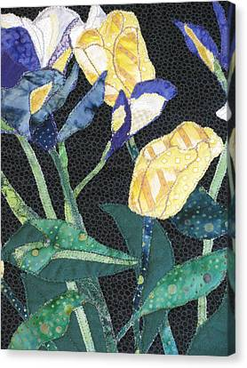 Tulips And Irises Detail Canvas Print by Lynda K Boardman