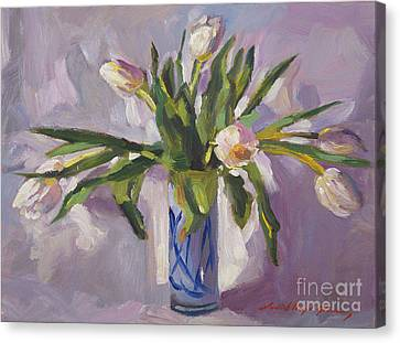 Tulips At Springtime Canvas Print