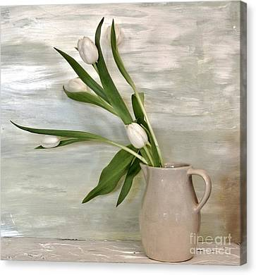 Monotone Canvas Print - Tulips Dancing by Marsha Heiken