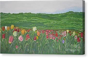 Tulips Dream Canvas Print by Felicia Tica