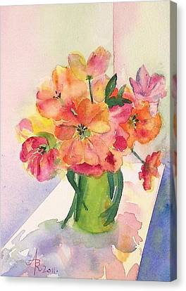 Tulips For Mother's Day Canvas Print by Anna Ruzsan