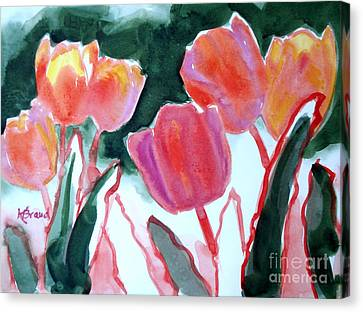 Tulips For The Love Of Patches Canvas Print by Kathy Braud