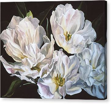 Tulips In Spring Canvas Print by Alfred Ng