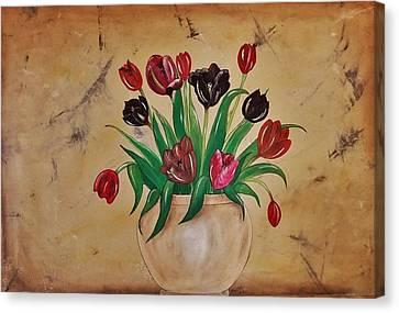 Tulips Of Tuscany 57x41 Canvas Print