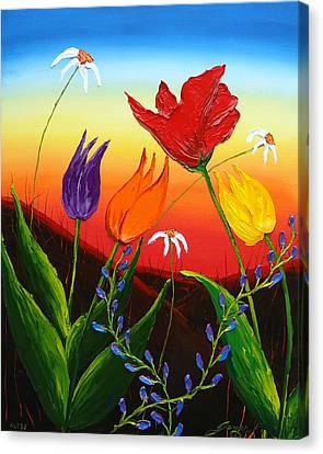 Tulips Of Woodburn Oregon Canvas Print by Portland Art Creations