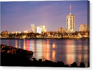 Tulsa Oklahoma From The Shoreline Canvas Print