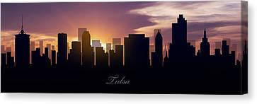 Tulsa Sunset Canvas Print by Aged Pixel