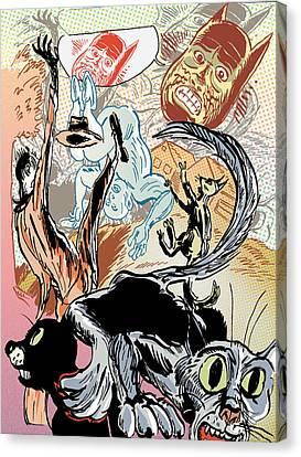 Tumble Cats Canvas Print