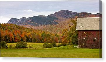Maine Barns Canvas Print - Tumbledown Mountain In The Fall by Benjamin Williamson