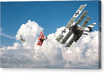 Ww1 Canvas Print - Tumult In The Clouds by Pat Speirs