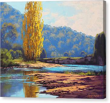 Tumut River Poplar Canvas Print by Graham Gercken